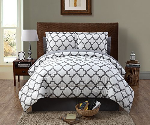 Vcny Galaxy 8 Piece Bed In A Bag With Sheets Gray Size Queen