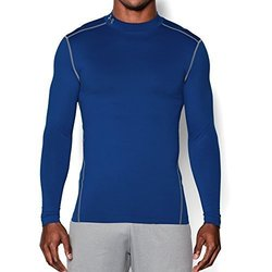 Under Armour ColdGear Armour Compression Mock - Men's Royal/Steel 1433159