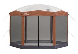 Coleman Steel-framed Screened Instant Canopy Shelter (12' x 10') red