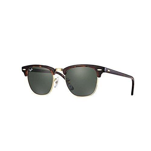 cf9c12d7d19eb ... Ray-Ban Clubmaster Unisex Sunglasses RB3016 49mm - Tortoise Green ...