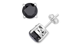 Femme Luxe 2.00 CTTW Black Diamond Stud Earrings