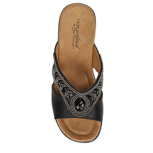 b7a75825a36 NaturalSoul Women s Ragan Sandals - Black Smooth - Size  10M - Check ...