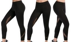 Hot Shapers Women's Tummy Control Activewear Leggings - Black - Size: L 1442578
