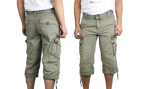 2d646e88fd X-Ray Jeans Men's Turin Cargo Shorts - Leaf Green - Size: 38 - Check ...