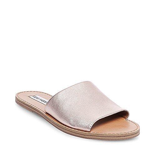 f1230470e381 Steve Madden Women s Grace Flat Sandal Rose Gold Leather 8 0 M US ...