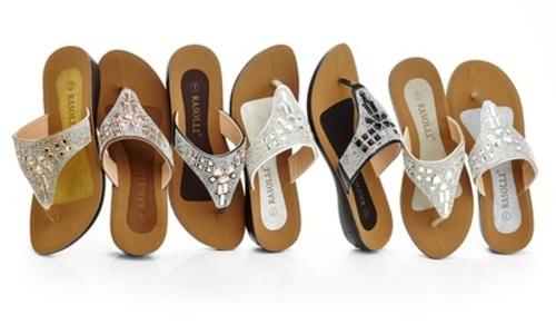 34265f37eaf7 ... Rasolli Womens Thong Sandal with Rhinestones - Silver - Size  7 ...
