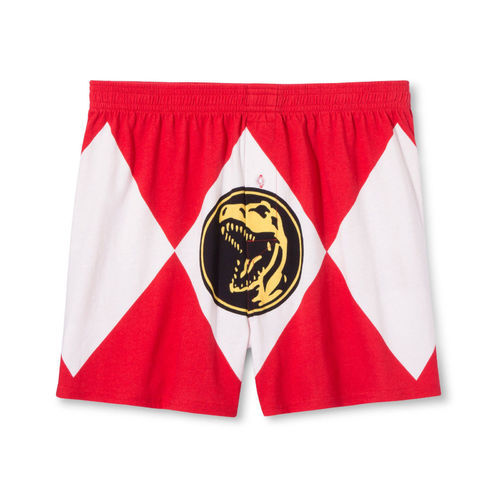 Men S Mighty Morphin Power Rangers Boxer Shorts Black Size