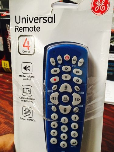 General Electric 4 Device Universal Remote Control for Audio/Video - Blue -  Check Back Soon
