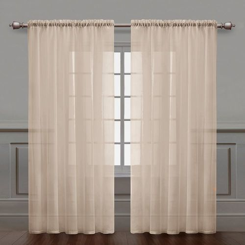 victoria classics infinity sheer curtain panel   natural