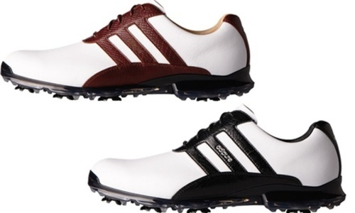 super popular 24b0e 39018 ... Adidas Adipure Mens Classic Leather Golf Shoes - WhiteBlack ...