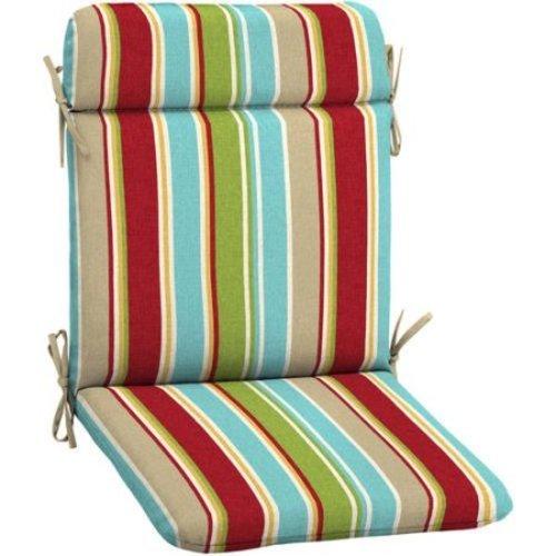 Mainstays Outdoor Patio Mid Back Chair Cushion Multi Stripe