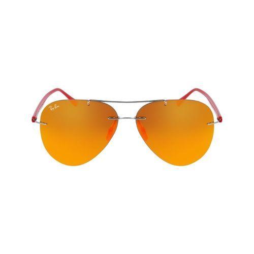 31303aebae7 Ray-Ban Men s Lightray Sunglasses - Red Frame Orange Mirrored - 59mm ...