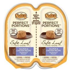 Nutro Portions Salmon & Chicken Wet Cat Food - 2.6 oz ea - Pack of 24 1487264