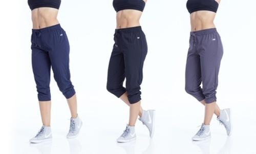8a7d9704eacb Marika Women s Stretch Woven Capri Pants - Midnight Blue - Size XL ...