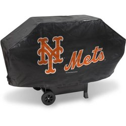 Rico Mlb Deluxe Heavy Duty New York Mets Grill Cover  - Black
