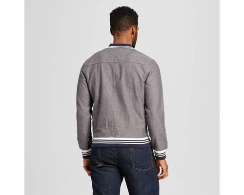 d453f4ffc99 Merona Men s classic Look Bomber Jacket - Dark Gray - Size S - Check ...