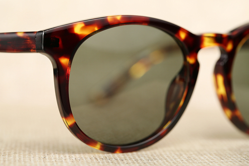 foto de Kent Wang Men's Polarized Keyhole Sunglasses - Tortoise/Green ...