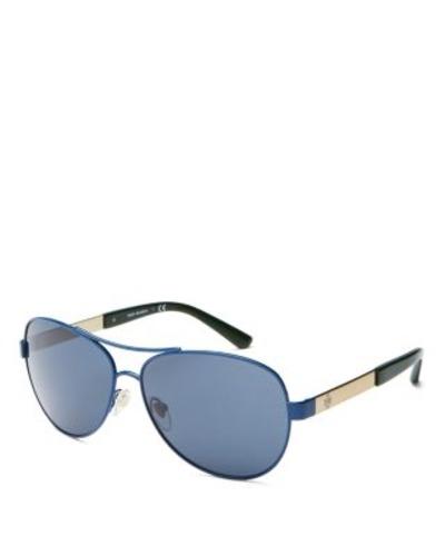 9cd3893bff40b ... Tory Burch Womens Sunglasses - Blue Gray Solid Lens (TY6047-305887-59  ...