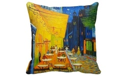 LiLiPi Vincent Gogh Accent Pillow - The Cafe Terrace on the Place du Forum 1390670