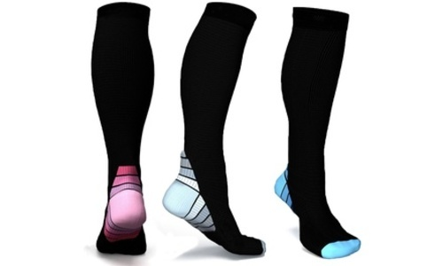 f7b78c4660 SNT Sports Women's Compression Socks 3 Pack - Multi - Size:One Size ...
