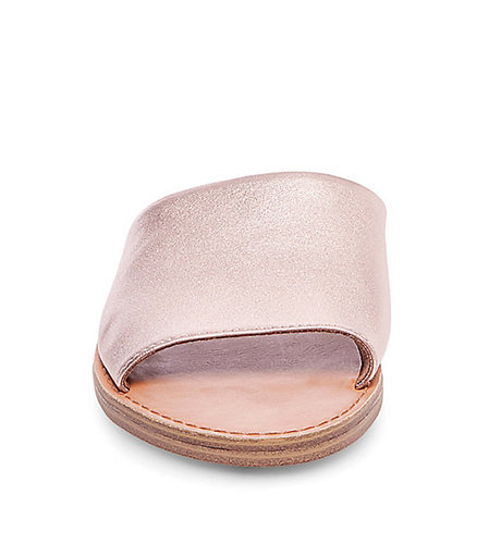 324fe49de11 Steve Madden Women s Grace Flat Leather Sandals - Rose Gold - Size  ...