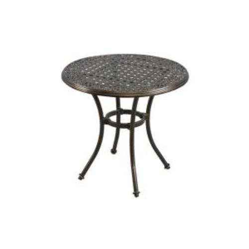 Super Hampton Bay Niles Park 30 Inch Round Cast Top Patio Bistro Theyellowbook Wood Chair Design Ideas Theyellowbookinfo