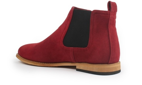 10995199f2d Gino Pheroni Men's Suede Chelsea Boots - Red - Size: 10 - Check Back ...