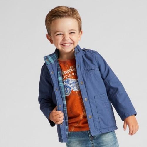 7fbeb06fe Genuine Kids Toddler Boys' Jacket - Metallic Blue - Size:12M - Check ...