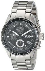Fossil Men's Decker Chronograph Stainless Steel Black Dial Watch CH2600