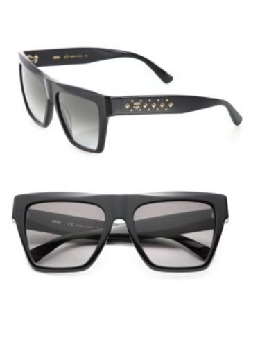ded3887cc6 MCM Women s Studded Navigator Sunglasses - Black - Size 55MM - Check ...