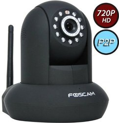 Foscam 720p Wireless IP Video Surveillance Camera - Black (FI9821PB)