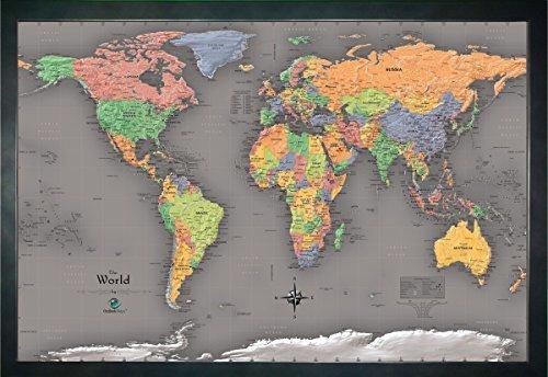 home magnetic pin travel map world w 20 bonus pins modern color