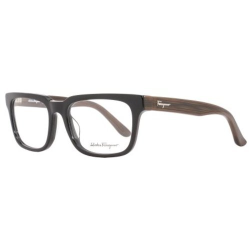 afaf3d431295c ... Salvatore Ferragamo Men s Optical Frame - Black Striped Brown ...