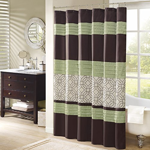 Arlan Faux Silk Shower Curtain With Embroidery 72x72