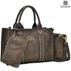 Dasein DS Collection Sophie Tote with Crossbody and Phone Wristlet handbag Set 0620  Bronze 1546542