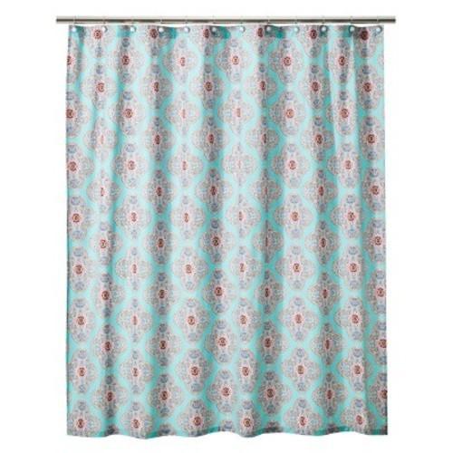 Boho Boutique Pompano Reverse Shower Curtain 1 Blue