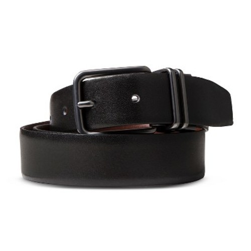 H26 men 39 s double keeper reversible belt black brown l for Haggar forever new shirts