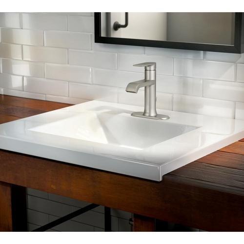 ... Moen Genta Single Hole Single Handle Bathroom Faucet   Brushed Nickel  ...