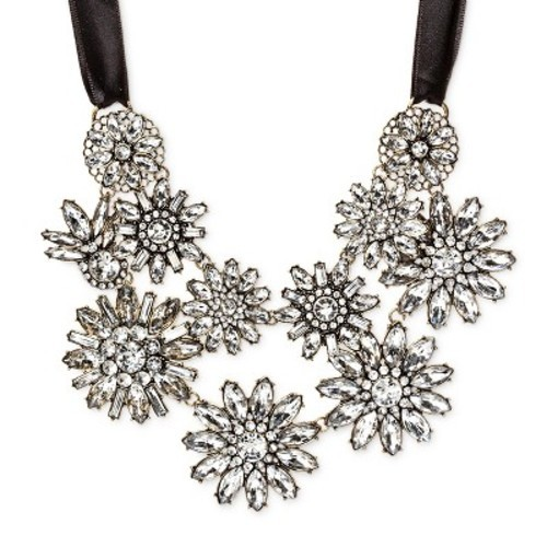 SUGARFIX by BaubleBar Floral Bib Necklace - Crystal - Check Back Soon