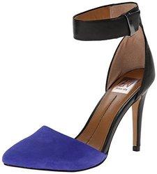 DV by Dolce Vita Women's Odetta D'Orsay Pump, Blue/Black, 7.5 M US