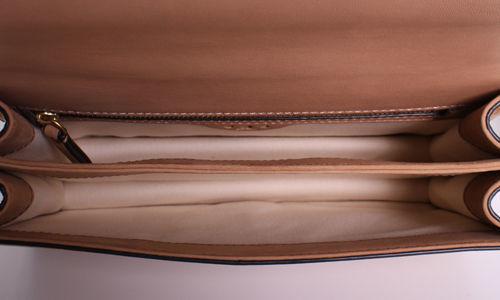 dfe3f3b401d Tory Burch Sadie Metallic Suede Shoulder Bag - Brown - Size One Size ...