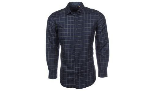 Berto Romani Men's Slim Fit Button-Down Shirt - Euro Navy - Size ...