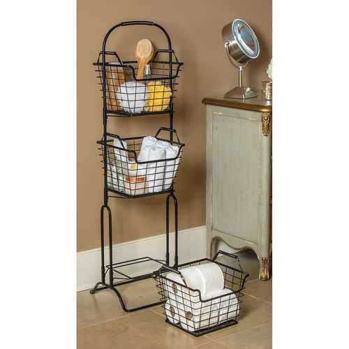 Sam S West Wire Storage 3 Tier Basket Stand Mlgy16009c