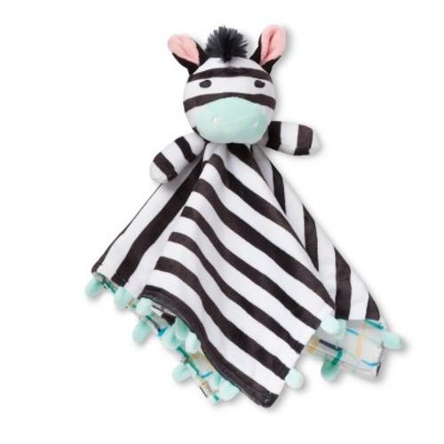 Oh Joy Lovie Security Blanket Zebra Black Mint Check Back