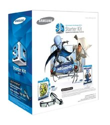 Samsung SSG-P3100M Megamind 3D Starter Kit Black w/ Shrek 1, 2, 3 Blu-Ray