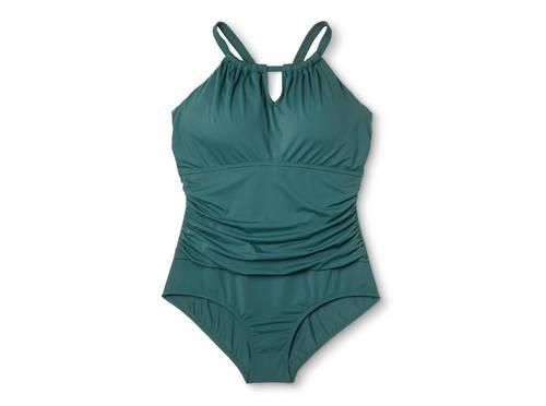 f6f6ec8010413 Ava   Viv Women s Plus Size Keyhole Once Piece Swimsuit - Green ...