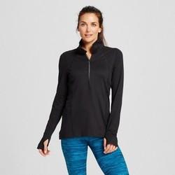Women's Run Half Zip Pullover - C9 Champion  - Black XL 1567452