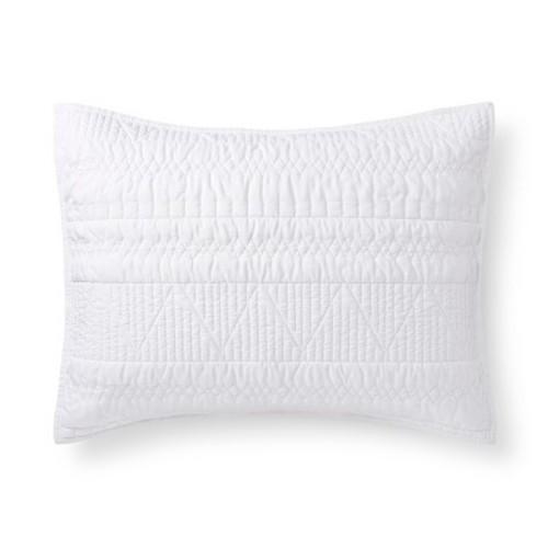 xhilaration geometric pillow sham white size standard. Black Bedroom Furniture Sets. Home Design Ideas