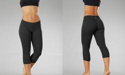 Bally Total Fitness Performance Capri Leggings - Black - Size: Large