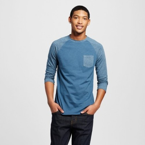 54741166 Men's 3/4 Sleeve Baseball T-Shirt - Mossimo Supply Co. Teal S - Check Back  Soon - BLINQ